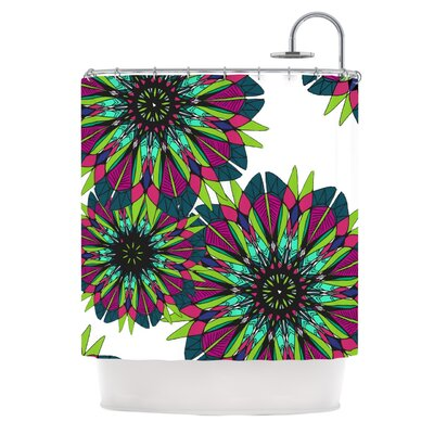 KESS InHouse Bright Polyester Shower Curtain