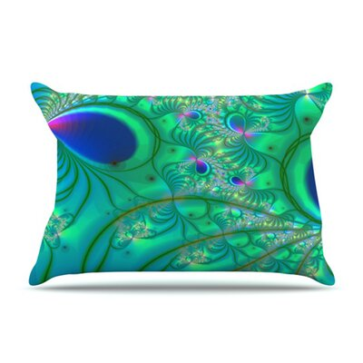 KESS InHouse Fractal Microfiber Fleece Pillow Case