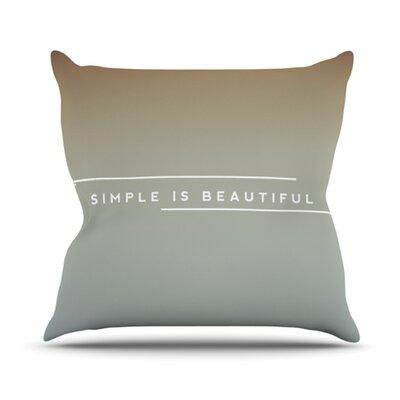 KESS InHouse Simple Beautiful Throw Pillow