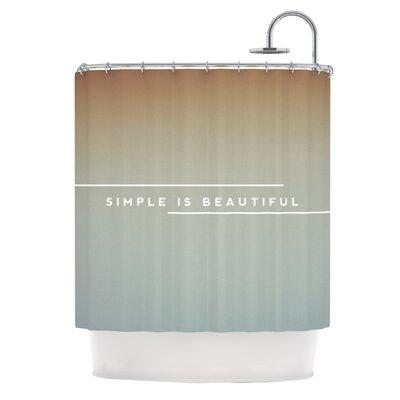 KESS InHouse Simple Beautiful Polyester Shower Curtain
