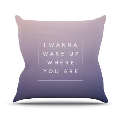 KESS InHouse Wake Up Throw Pillow