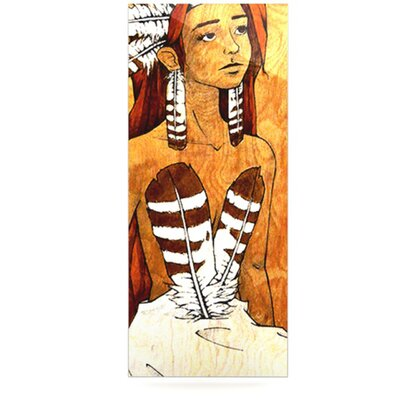 KESS InHouse Owl Feather Dress by Brittany Guarino Graphic Art Plaque