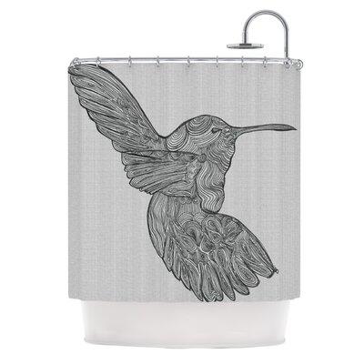 KESS InHouse Hummingbird Polyester Shower Curtain