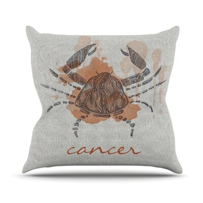 KESS InHouse Cancer Throw Pillow