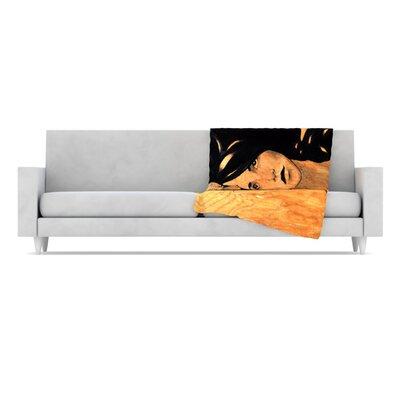 KESS InHouse Bra Microfiber Fleece Throw Blanket