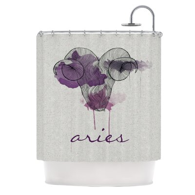 KESS InHouse Aries Polyester Shower Curtain