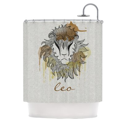 KESS InHouse Leo Polyester Shower Curtain