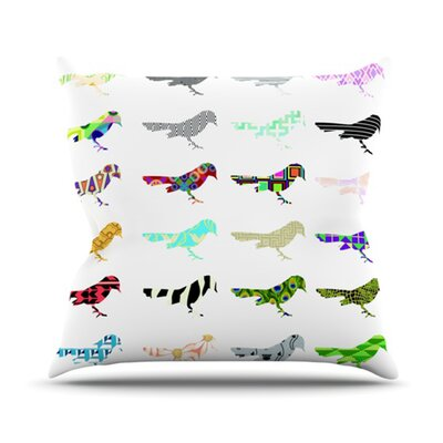 KESS InHouse Birds Throw Pillow