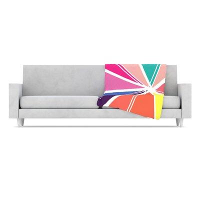 KESS InHouse Boldly Bright Microfiber Fleece Throw Blanket