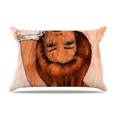 KESS InHouse Girl Microfiber Fleece Pillow Case