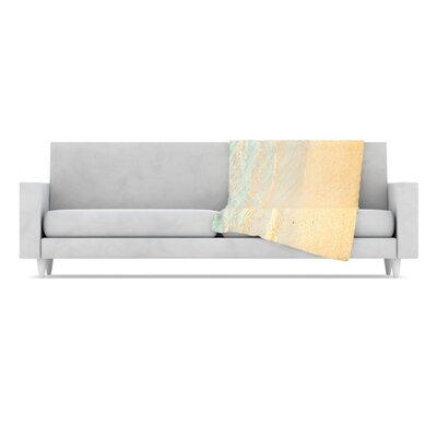 KESS InHouse Ombre Water Microfiber Fleece Throw Blanket