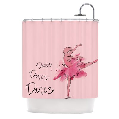 KESS InHouse Ballerina Polyester Shower Curtain