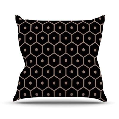 KESS InHouse Tiled Mono Throw Pillow