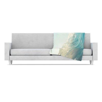 KESS InHouse The Wave Microfiber Fleece Throw Blanket