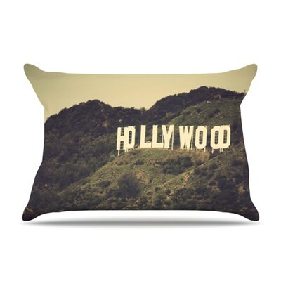 KESS InHouse Hollywood Microfiber Fleece Pillow Case
