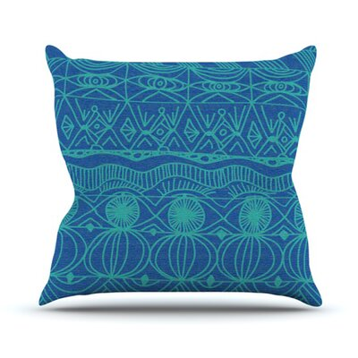 KESS InHouse Beach Blanket Confusion Throw Pillow
