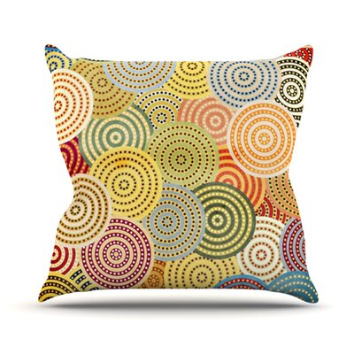 KESS InHouse Matias Girl Throw Pillow