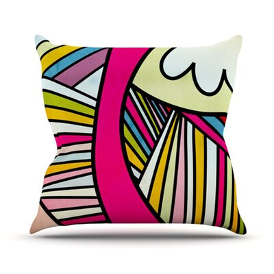 KESS InHouse Fake Colors Throw Pillow