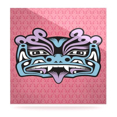 KESS InHouse Fu Dog by Louie Gong Graphic Art Plaque
