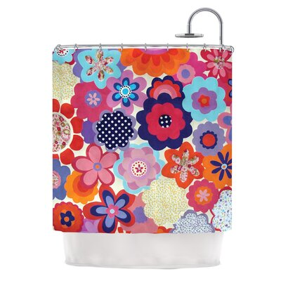 Patchwork Flowers Polyester Shower Curtain