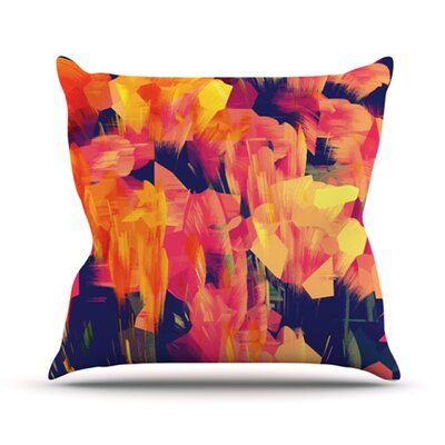 KESS InHouse Geo Flower Throw Pillow