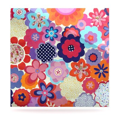 KESS InHouse Patchwork Flowers Floating Art Panel