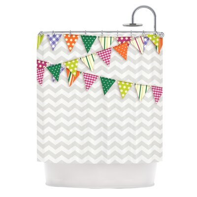 KESS InHouse Flags 1 Polyester Shower Curtain