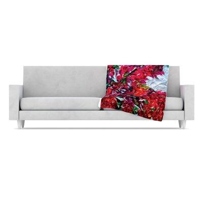 KESS InHouse Bougainvillea Fleece Throw Blanket