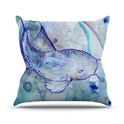 KESS InHouse Koi Playing Throw Pillow