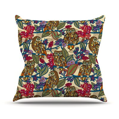 KESS InHouse My Boobooks Owls Throw Pillow