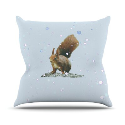KESS InHouse Squirrel Throw Pillow