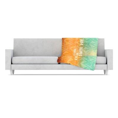 KESS InHouse Deco II Microfiber Fleece Throw Blanket
