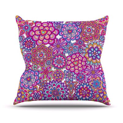 KESS InHouse My Happy Flowers Throw Pillow