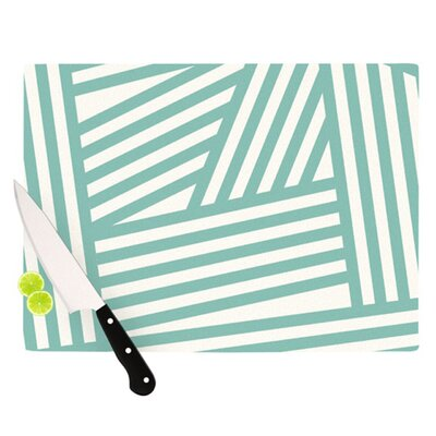 KESS InHouse Stripes Cutting Board