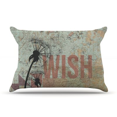 KESS InHouse Wish Fleece Pillow Case