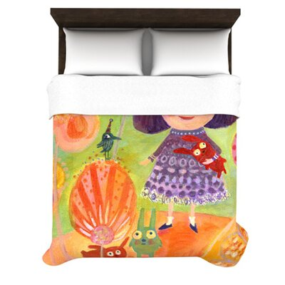 KESS InHouse Flowerland Duvet Cover Collection
