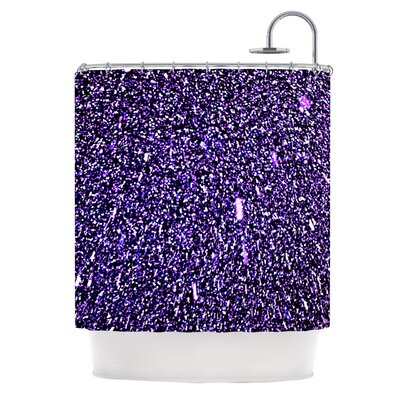 Purple Dots Polyester Shower Curtain