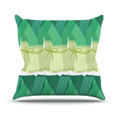 KESS InHouse Leeks Throw Pillow