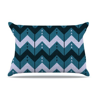 KESS InHouse Chevron Dance Fleece Pillow Case