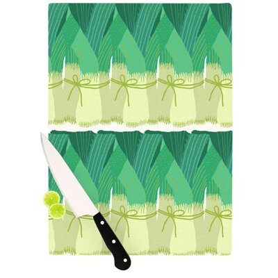 KESS InHouse Leeks Cutting Board