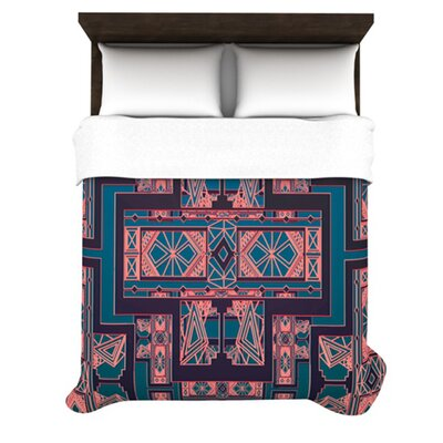 KESS InHouse Golden Art Deco Duvet Cover Collection