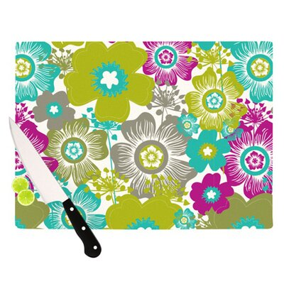 KESS InHouse Little Bloom Cutting Board