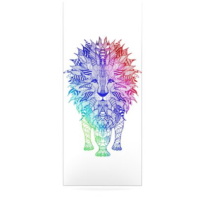 KESS InHouse Rainbow Lion Floating Art Panel