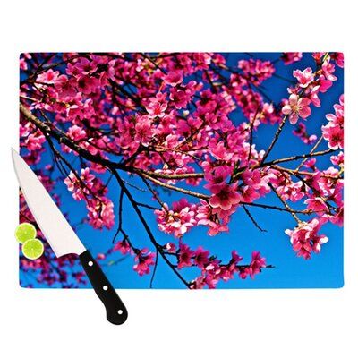 KESS InHouse Flowers Cutting Board