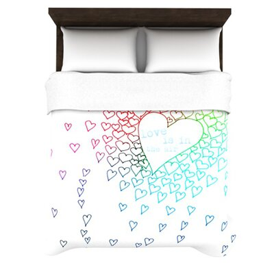 KESS InHouse Rainbow Hearts Duvet Cover Collection