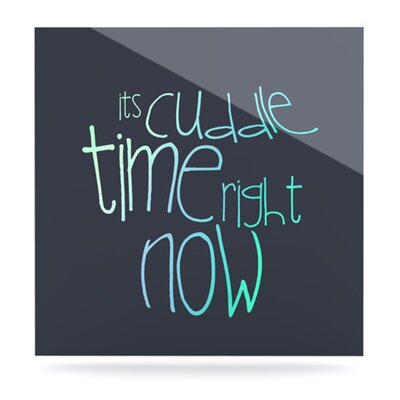 KESS InHouse Cuddle Time by Monika Strigel Textual Art Plaque