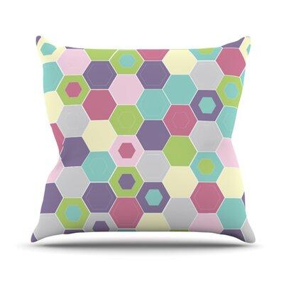 KESS InHouse Pale Bee Hex Throw Pillow