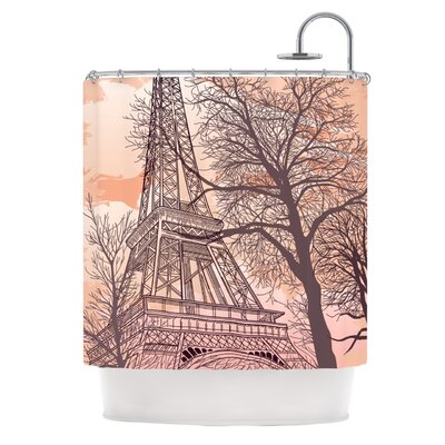 Eiffel Tower Polyester Shower Curtain | Wayfair