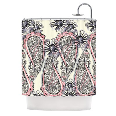 KESS InHouse Inky Paisley Bloom Polyester Shower Curtain