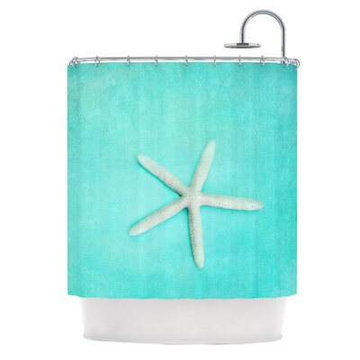 KESS InHouse Starfish Polyester Shower Curtain
